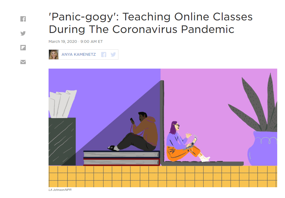 'Panic-gogy': Teaching Online Classes During The
